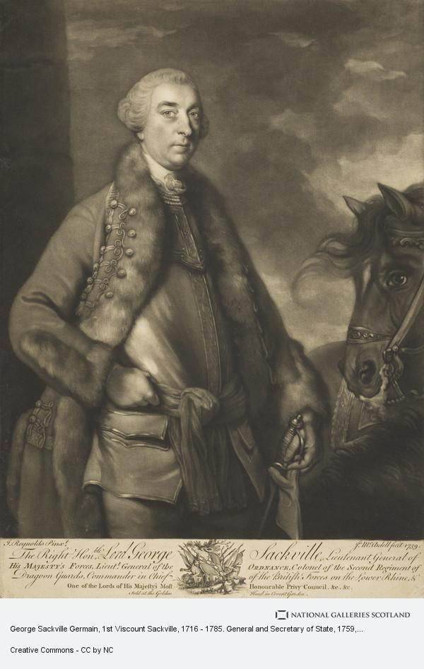 James McArdell, George Sackville Germain, 1st Viscount Sackville, 1716 - 1785. General and Secretary of State