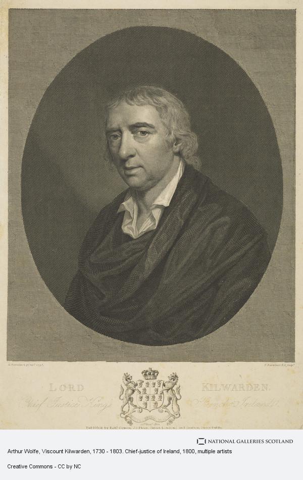 Francesco Bartolozzi, Arthur Wolfe, Viscount Kilwarden, 1730 - 1803. Chief-justice of Ireland