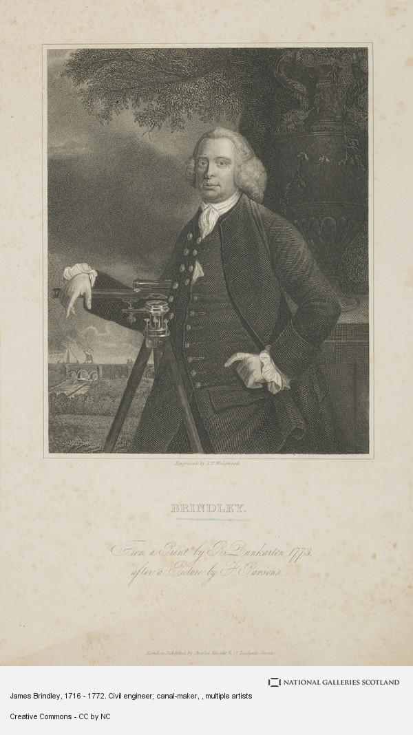 T. Parsons, James Brindley, 1716 - 1772. Civil engineer; canal-maker