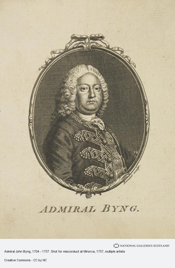 Guillaume-Philippe Benoist, Admiral John Byng, 1704 - 1757. Shot for misconduct at Minorca