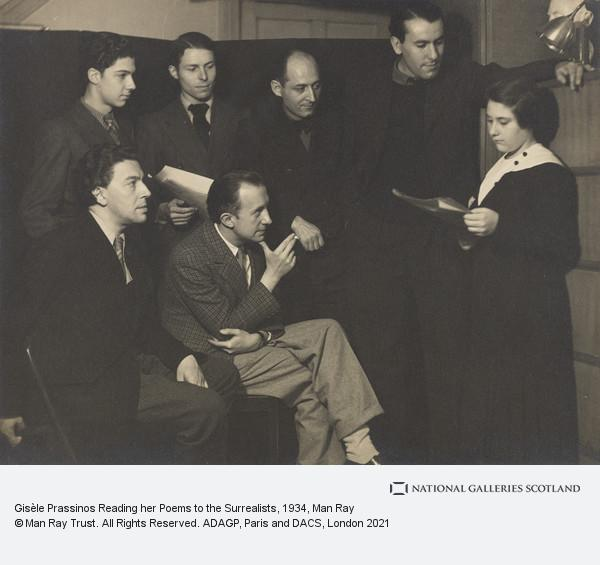 Man Ray, Gisèle Prassinos Reading her Poems to the Surrealists