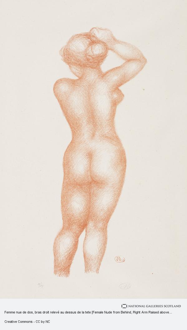 Femme Nue De Dos femme nue de dos, bras droit relevé au dessus de la tete [female