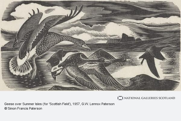 G.W. Lennox Paterson, Geese over Summer Isles (for 'Scottish Field')