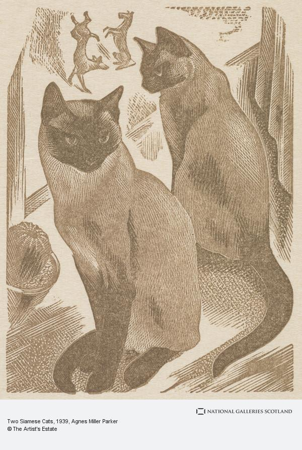Agnes Miller Parker, Two Siamese Cats