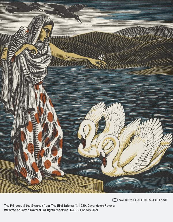 Gwendolen Raverat, The Princess & the Swans (from 'The Bird Talisman')