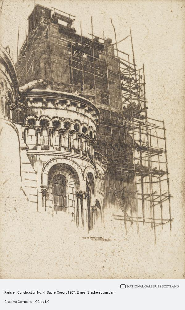 Ernest Stephen Lumsden, Paris en Construction No. 4: Sacré-Coeur