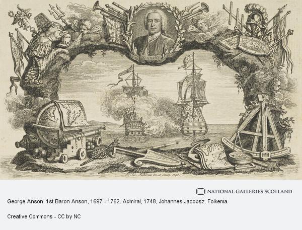Johannes Jacobsz. Folkema, George Anson, 1st Baron Anson, 1697 - 1762. Admiral