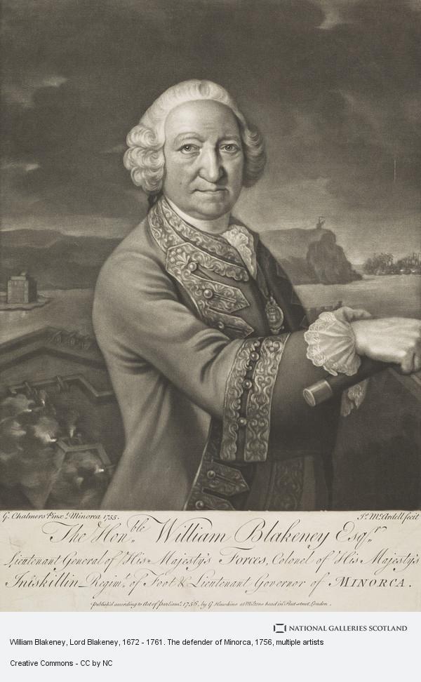 James McArdell, William Blakeney, Lord Blakeney, 1672 - 1761. The defender of Minorca