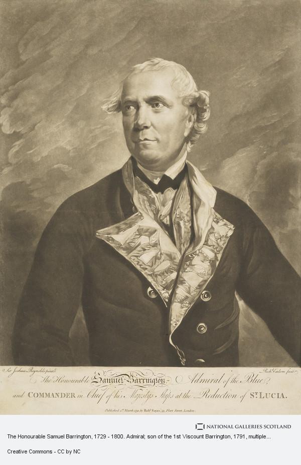 Richard Earlom, The Honourable Samuel Barrington, 1729 - 1800. Admiral; son of the 1st Viscount Barrington