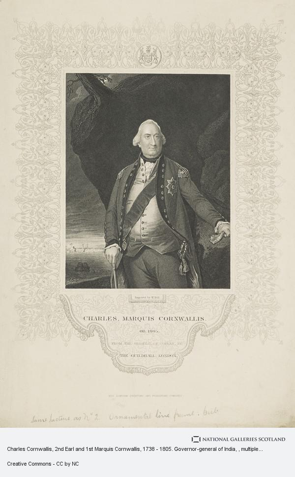 John Singleton Copley, Charles Cornwallis, 2nd Earl and 1st Marquis Cornwallis, 1738 - 1805. Governor-general of India