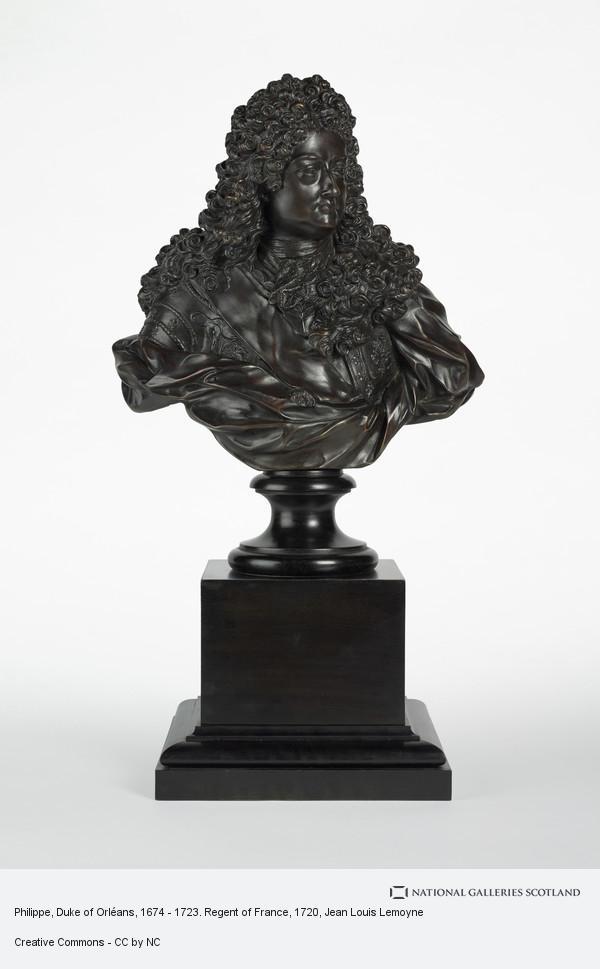 Jean Louis Lemoyne, Philippe, Duke of Orléans, 1674 - 1723. Regent of France