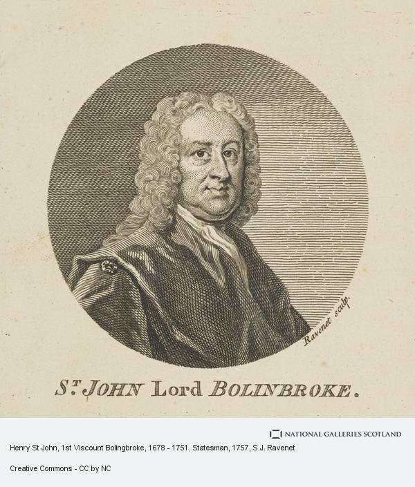 S.J. Ravenet, Henry St John, 1st Viscount Bolingbroke, 1678 - 1751. Statesman
