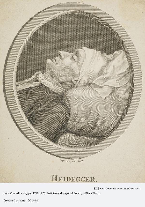 William Sharp, Hans Conrad Heidegger, 1710-1778. Politician and Mayor of Zurich
