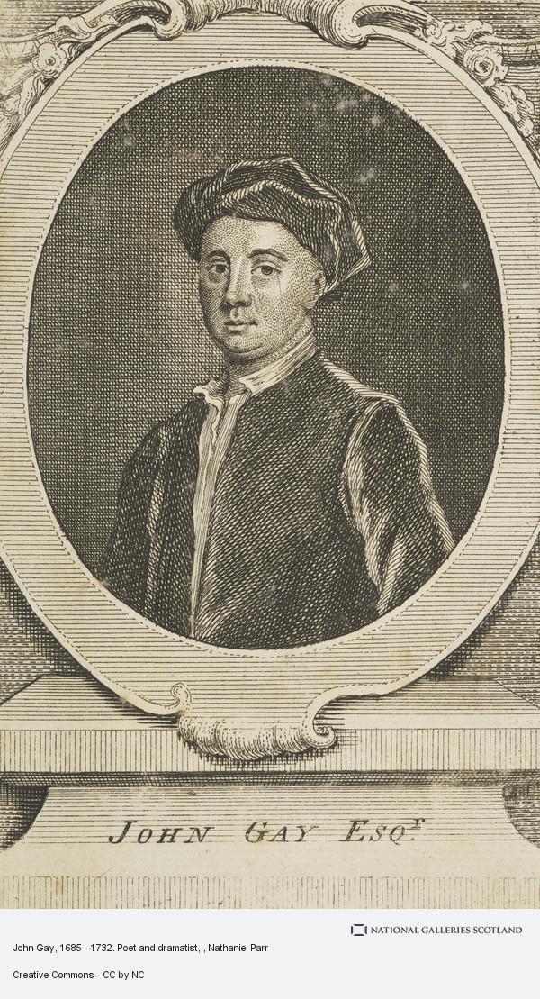 Nathaniel Parr, John Gay, 1685 - 1732. Poet and dramatist