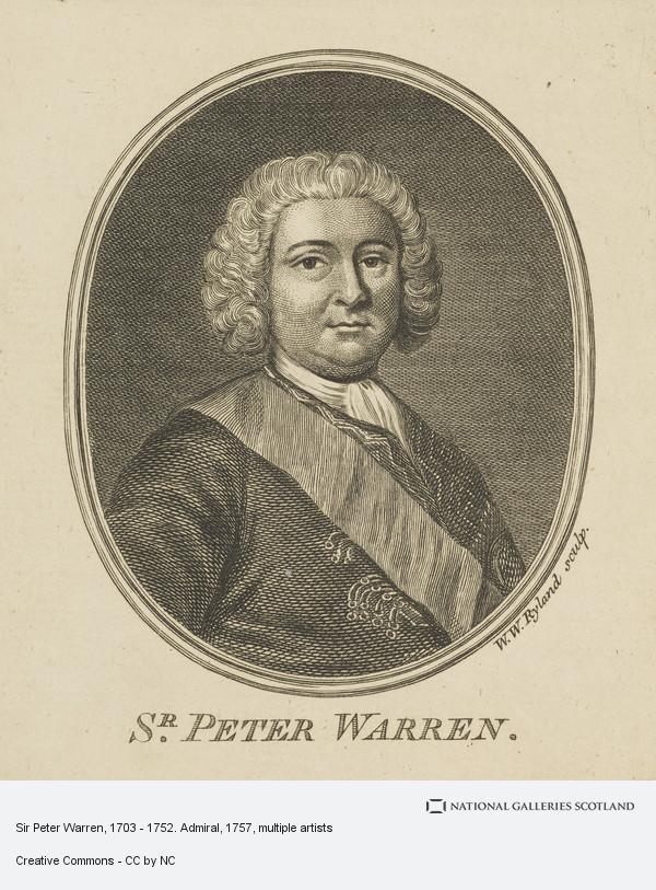 William Wynne Ryland, Sir Peter Warren, 1703 - 1752. Admiral