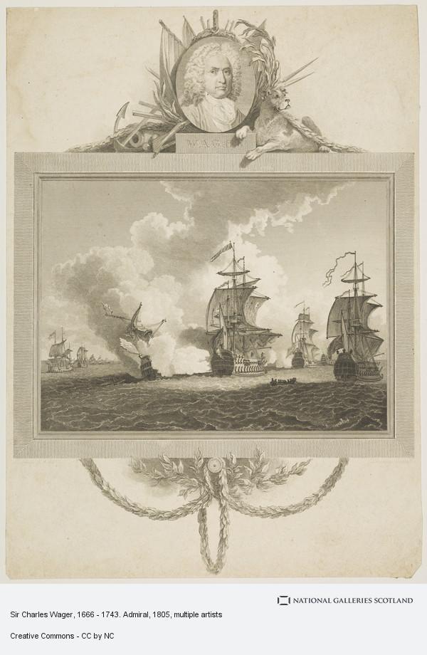 John Landseer, Sir Charles Wager, 1666 - 1743. Admiral