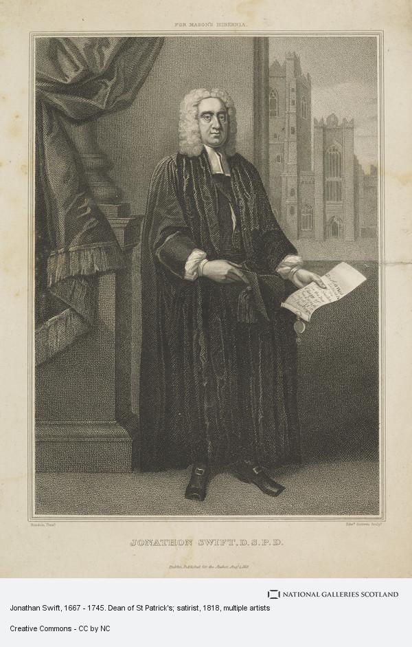 Edward Scriven, Jonathan Swift, 1667 - 1745. Dean of St Patrick's; satirist