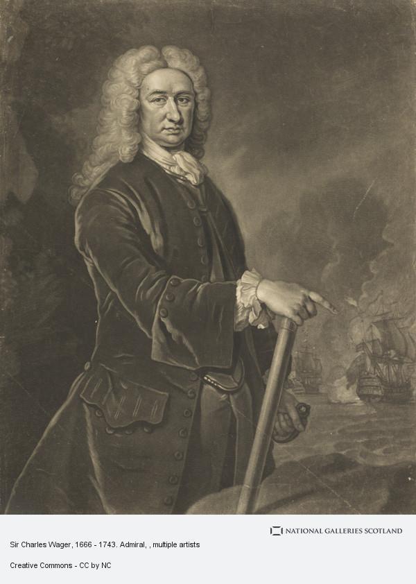 Isaac Whood, Sir Charles Wager, 1666 - 1743. Admiral