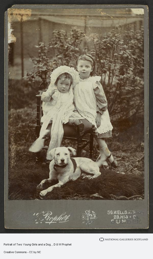 D & W Prophet, Portrait of Two Young Girls and a Dog