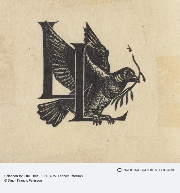 G.W. Lennox Paterson, Colophon for 'Life Lines'