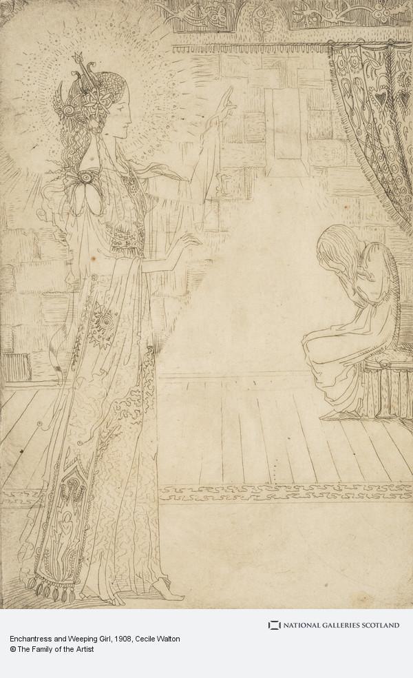 Cecile Walton, Enchantress and Weeping Girl