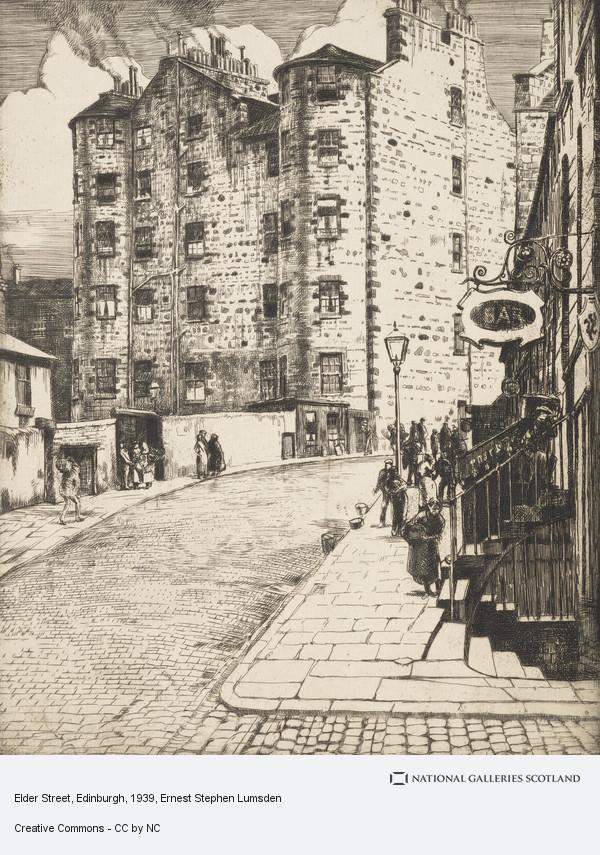 Ernest Stephen Lumsden, Elder Street, Edinburgh
