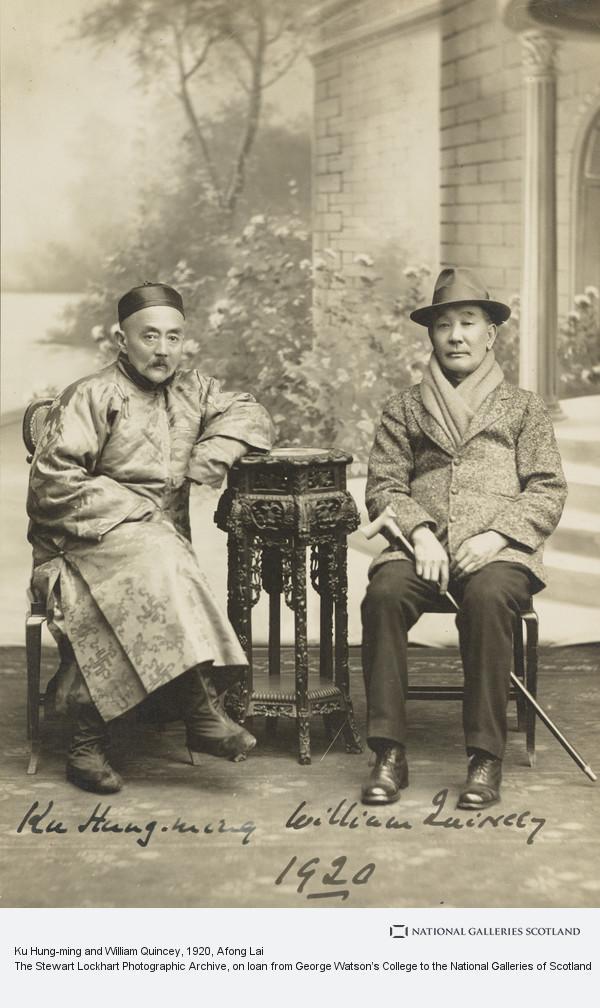 Afong Lai, Ku Hung-ming and William Quincey