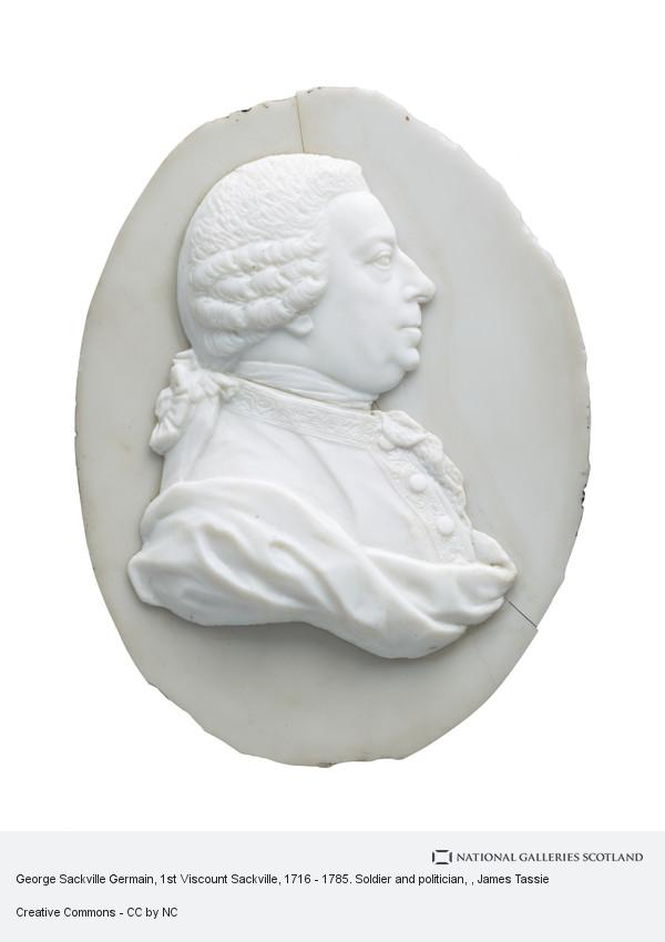 James Tassie, George Sackville Germain, 1st Viscount Sackville, 1716 - 1785. Soldier and politician