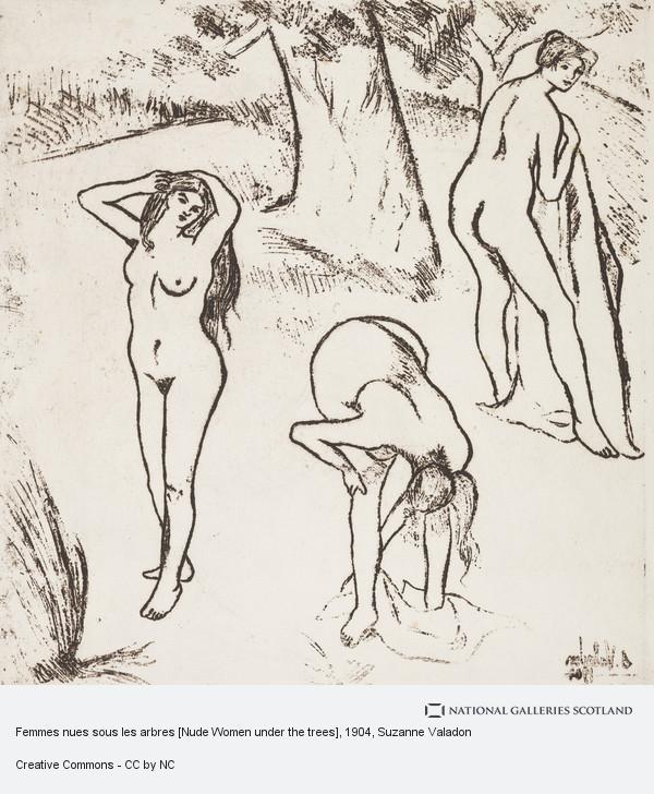 Suzanne Valadon, Femmes nues sous les arbres [Nude Women under the trees]