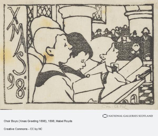 Mabel Royds, Choir Boys (Xmas Greeting 1898)