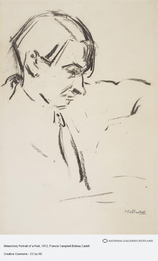 F.C.B. Cadell, Melancholy Portrait of a Poet