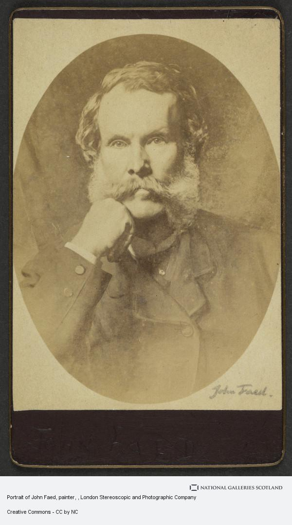 London Stereoscopic and Photographic Company, Portrait of John Faed, painter