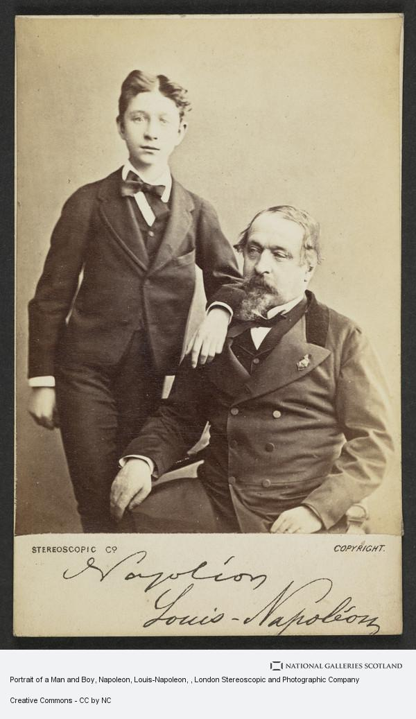 London Stereoscopic and Photographic Company, Portrait of a Man and Boy, Napoleon, Louis-Napoleon
