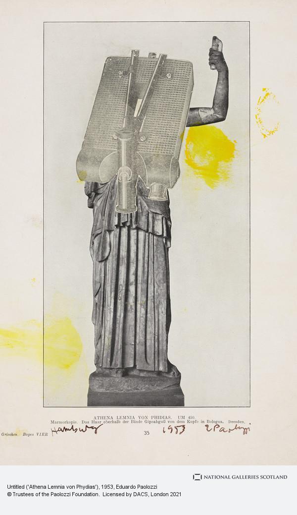 Eduardo Paolozzi, Untitled ('Athena Lemnia von Phydias')