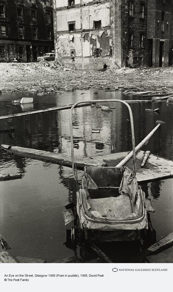 David Peat, An Eye on the Street, Glasgow 1968 (Pram in puddle)
