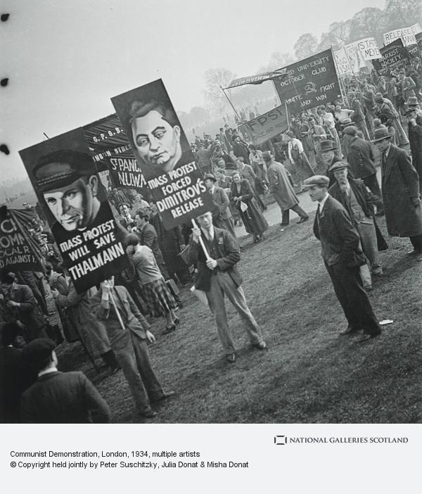 Edith Tudor-Hart, Communist Demonstration, London