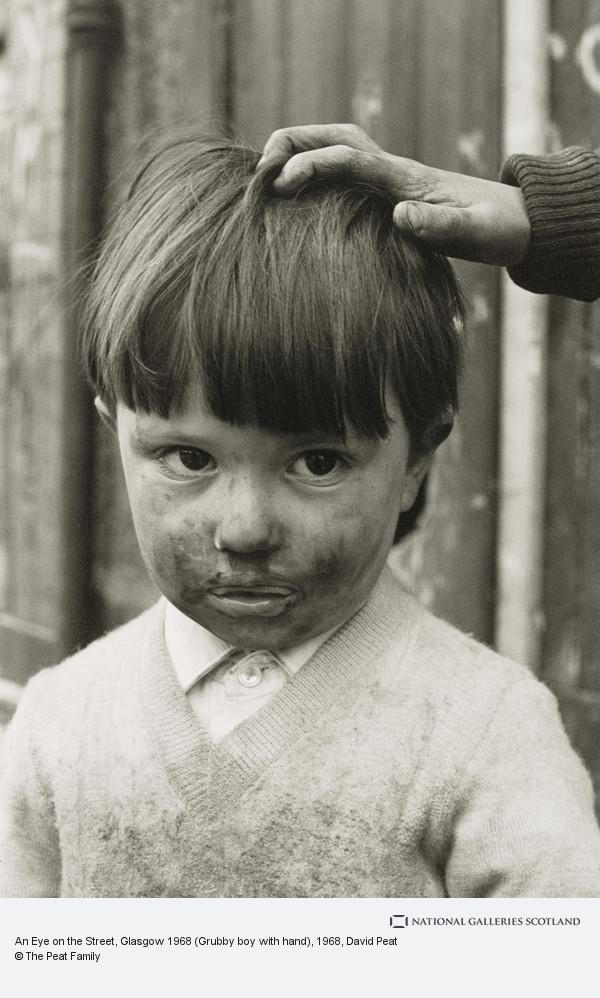 David Peat, An Eye on the Street, Glasgow 1968 (Grubby boy with hand)