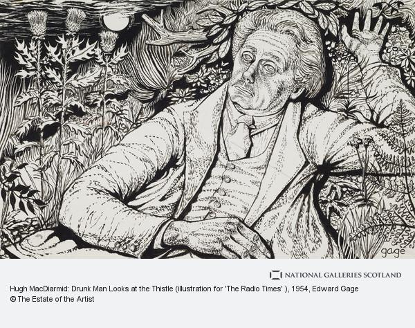 Edward Gage, Hugh MacDiarmid: Drunk Man Looks at the Thistle (illustration for 'The Radio Times' )