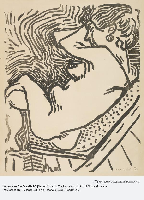 Henri Matisse, Nu assis (or 'Le Grand bois') [Seated Nude (or 'The Large Woodcut')]