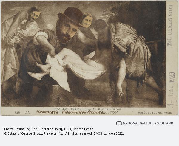 George Grosz, Eberts Bestattung [The Funeral of Ebert]