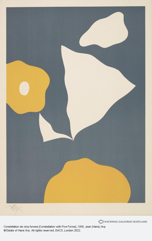 Jean (Hans) Arp, Constellation de cinq formes [Constellation with Five Forms]