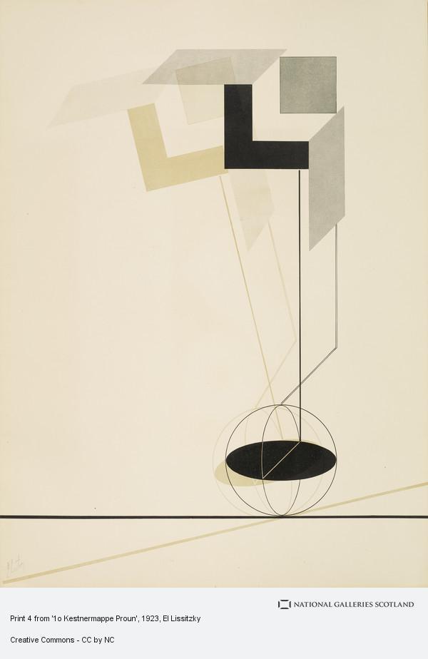 El Lissitzky, Print 4 from '1o Kestnermappe Proun'