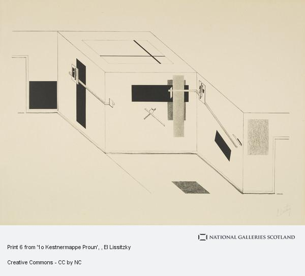 El Lissitzky, Print 6 from '1o Kestnermappe Proun'