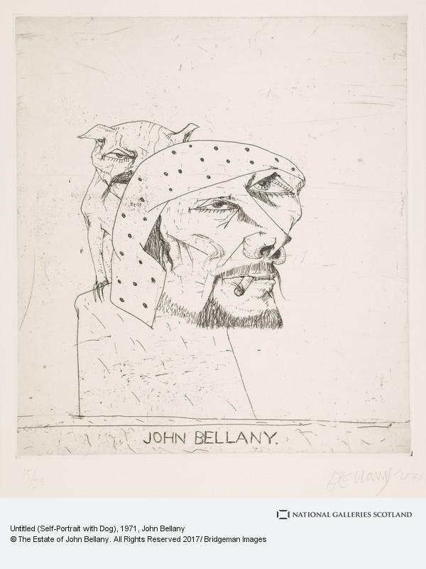 John Bellany, Untitled (Self-Portrait with Dog)