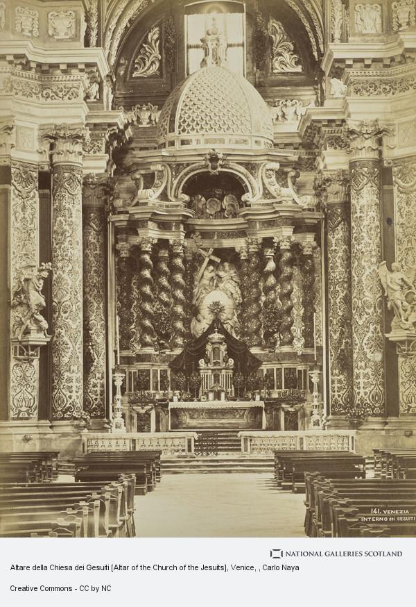 Carlo Naya, Altare della Chiesa dei Gesuiti [Altar of the Church of the Jesuits], Venice
