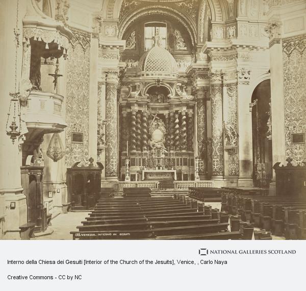 Carlo Naya, Interno della Chiesa dei Gesuiti [Interior of the Church of the Jesuits], Venice