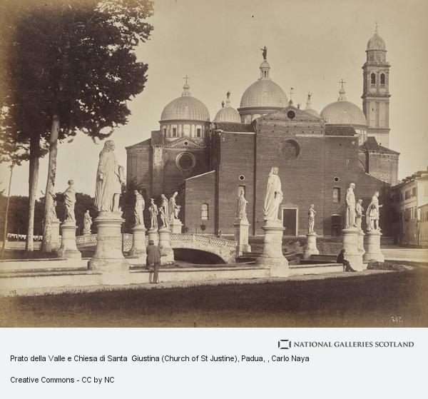 Carlo Naya, Prato della Valle e Chiesa di Santa  Giustina (Church of St Justine), Padua