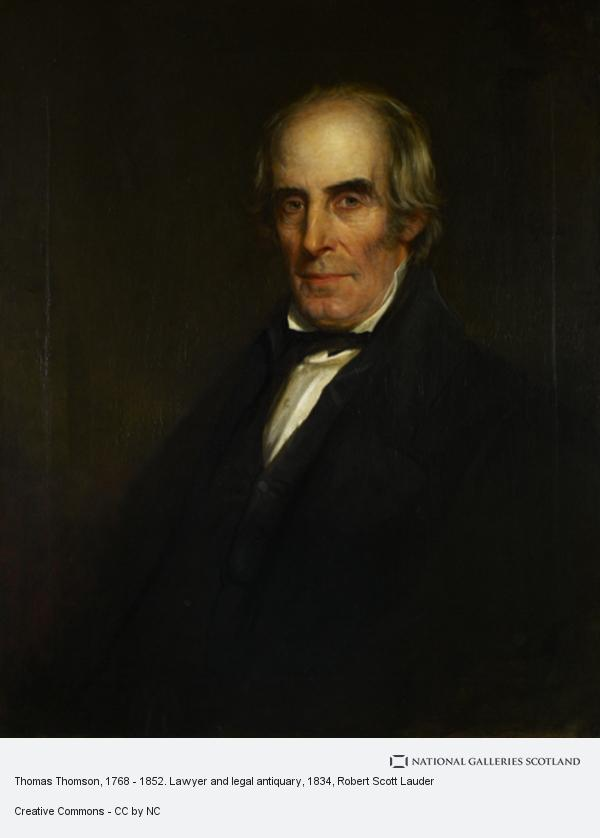 Robert Scott Lauder, Thomas Thomson, 1768 - 1852. Lawyer and legal antiquary