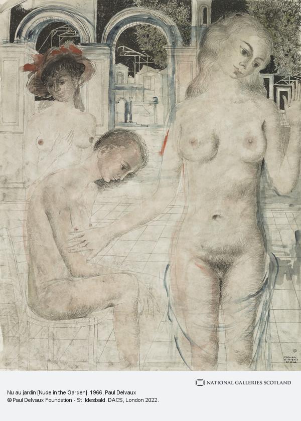 Paul Delvaux, Nu au jardin [Nude in the Garden]