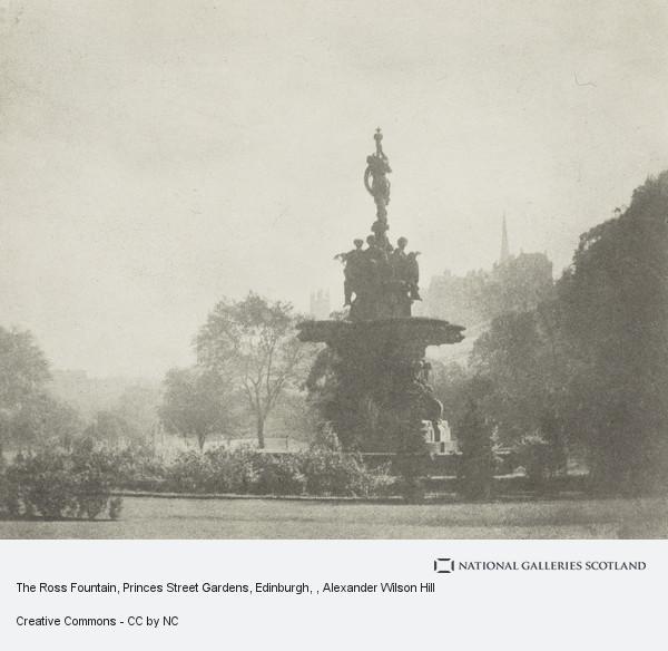 Alexander Wilson Hill, The Rose Fountain, Princes Street Gardens, Edinburgh